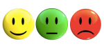 Happy neutral sad faces